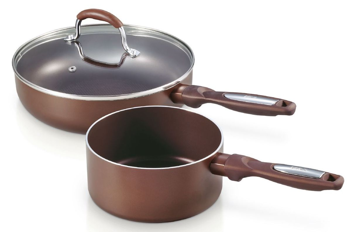Набор Pro Induc Bronze ковш 1.1 л + сотейник с крышкой с антиприг. покрытием 24 см, арт.1361800468/5/3Набор посуды для индукционной плиты