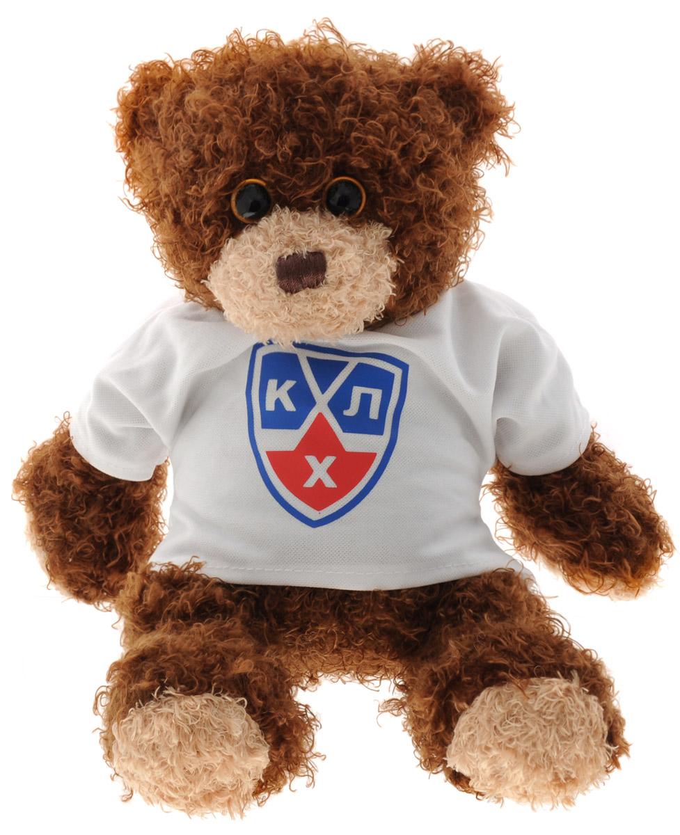 TY Мягкая игрушка Медвежонок-хоккеист в футболке цвет коричневый 22 см