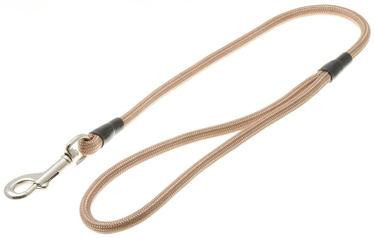 Водилка для собак V.I.Pet, цвет: кэмел, диаметр 6 мм, длина 50 см0120710Профессиональная водилка V.I.Pet изготовлена из нейлона. Легкая, прочная, удобная. Применяется также для повседневного использования. При помощи карабина идеально комбинируется с выставочными цепочками, ошейниками, полуудавками. Шнур с плетеным кордом обладает высокой прочностью и прекрасно держит форму.