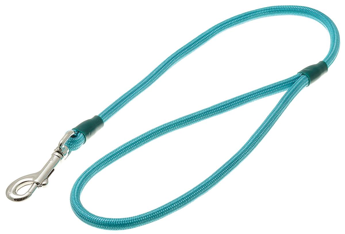 Водилка для собак V.I.Pet, цвет: бирюзовый, диаметр 6 мм, длина 50 см0120710Профессиональная водилка V.I.Pet изготовлена из нейлона. Легкая, прочная, удобная. Применяется также для повседневного использования. При помощи карабина идеально комбинируется с выставочными цепочками, ошейниками, полуудавками. Шнур с плетеным кордом обладает высокой прочностью и прекрасно держит форму.
