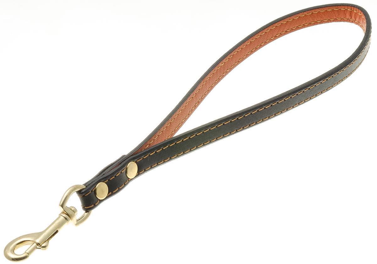 Водилка-петля для собак V.I.Pet, цвет: золото, ширина 12 мм72-0849Водилка-петля V.I.Pet, изготовленная из высококачественной кожи, состоит из ручки и мощного карабина. Используется при перемещении по городу, чтобы вести рядом крупную собаку.