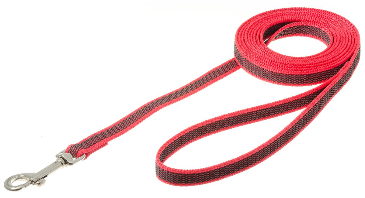 Поводок с карабином профессиональный с латексом 15мм*3м (красный) 73-257673-2449нейлон;латекс;стальной карабин