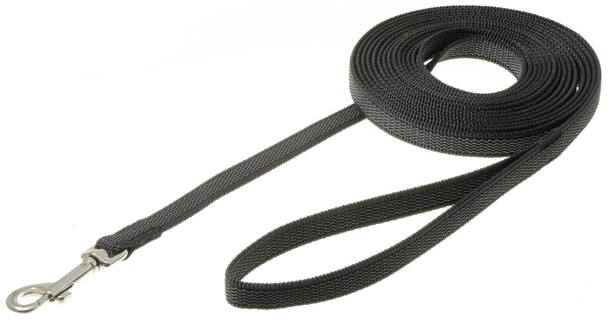 Поводок с карабином профессиональный с латексом 15мм*5м (черный) 73-26090120710нейлон;латекс;стальной карабин