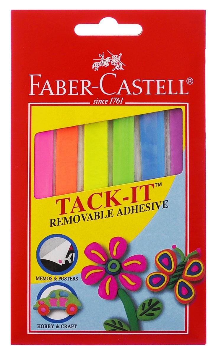Faber-Castell Снимаемая масса для приклеивания Tack-It 50 г цвет мультиколор187094Снимаемая масса для приклеивания Faber-Castell Tack-It подходит для многоцелевого применения. Масса пригодится дома, в школе, на работе и в творческих проектах. Она может быть использована для временного крепления сообщений, плакатов, планов. Масса для приклеивания представлена в форме разноцветных полосок 6 разных цветов, которые можно комбинировать.