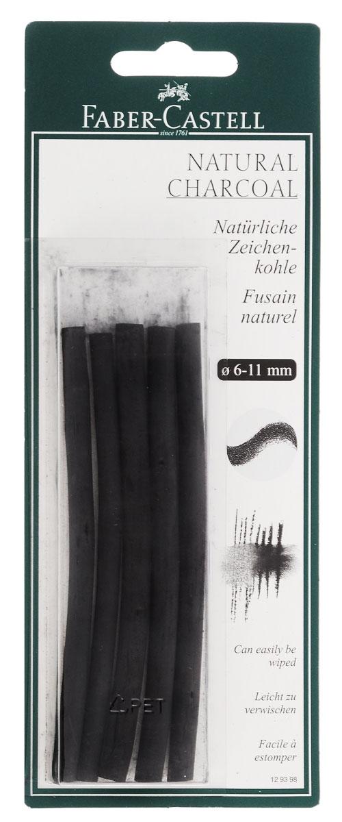 """Набор стержней из натурального угля для рисования Faber-Castell """"Pitt Monochrome"""" состоит из 5 углей, выполненных в форме карандаша. Это один из самых уникальных и высококачественных продуктов компании """"Faber-Castell"""" (Германия). Натуральный уголь изготовлен из буковых или вербных веточек. Отличается насыщенным и равномерным черным цветом с синеватым оттенком. Уголь - это быстрый, линейный и чувственный рисовальный инструмент. Он может создать как выразительные, так и мягкие линии, гибкость которых непревзойденна. Характер и воздействие угольного штриха определяется способом ведения угля. Углем можно создавать мягкие и проработанные тоновые эффекты различными способами. В комплект входят 5 угольных стержней диаметром от 6 до 11 мм."""