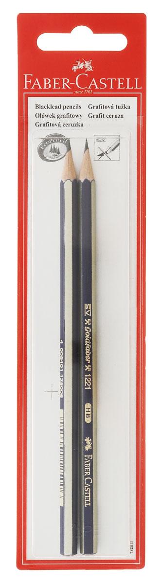 Faber-Castell Чернографитовый карандаш Goldfaber твердость HB 2 штC13S041944Чернографитовый карандаш Faber-Castell Goldfaber станет не только идеальным инструментом для письма, рисования или черчения, но и дополнит ваш имидж. Шестигранный корпус выполнен из натуральной древесины с сине-золотистым покрытием с надписями золотистого цвета. Высококачественный ударопрочный грифель не крошится и не ломается при заточке. Качественная мягкая древесина обеспечивает хорошее затачивание. Специальная SV технология вклеивания грифеля предотвращает его поломку при падении на пол. Карандаши покрыты лаком на водной основе в целях защиты окружающей среды. Степень твердости - HB. В комплект входят 2 графитовых карандаша.