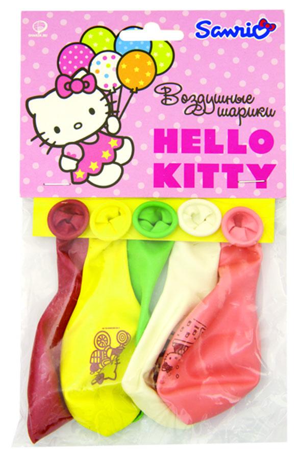 Веселая затея Набор воздушных шаров Hello Kitty 5 шт