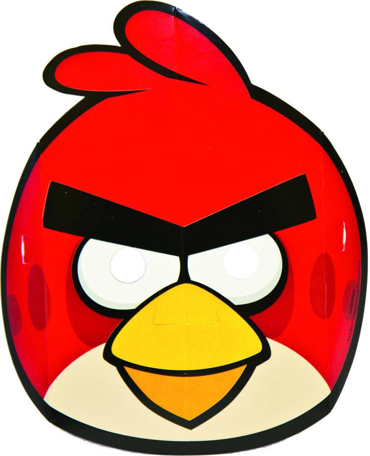 Amscan Маска карнавальная Angry Birds 8 шт