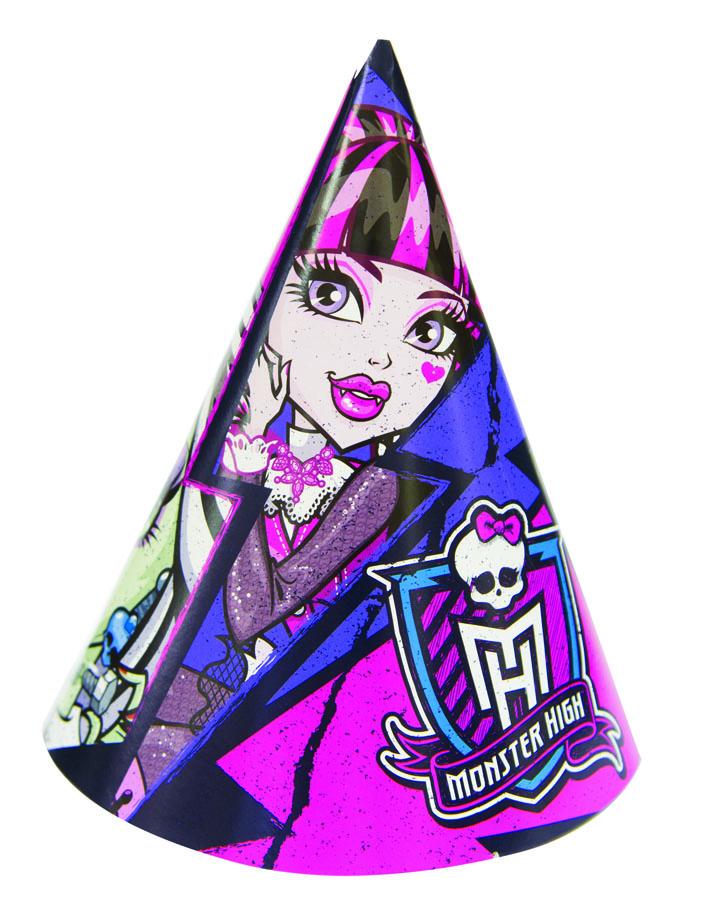 Веселая затея Колпак Monster High 8 шт