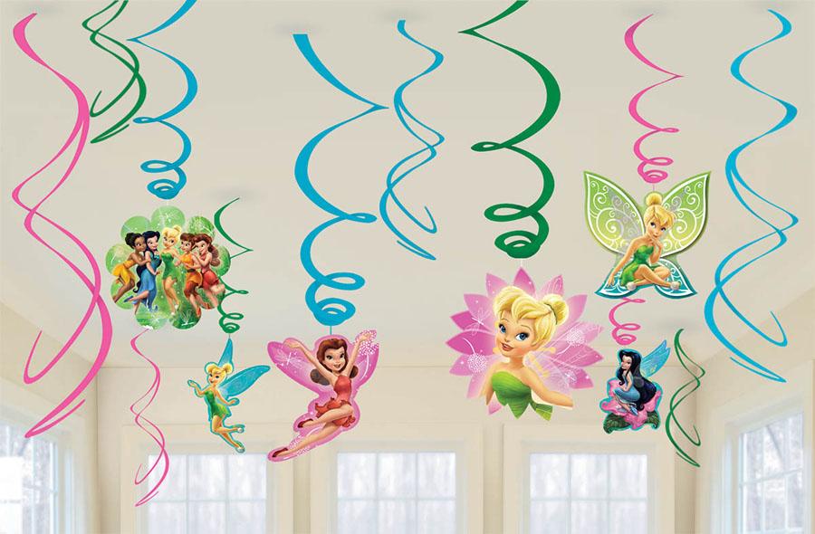 Amscan Спираль Disney Феи 12 шт1069915Приближается день рождения или другая знаменательная дата? Создать праздничную атмосферу в доме поможет украшение-спираль Disney. Феи. Каждая спираль снабжена колечком для крепления к потолку или стене.В наборе 12 разноцветных украшений.