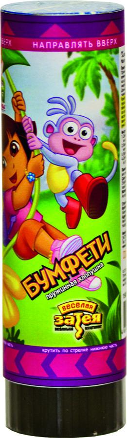 Веселая затея Пружинная хлопушка Даша-путешественница 16 см -  Хлопушки бумфети