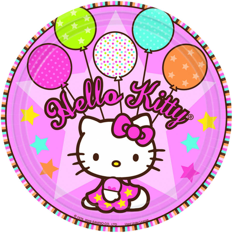 Amscan Тарелка Hello Kitty 8 шт костюм китти hello kitty