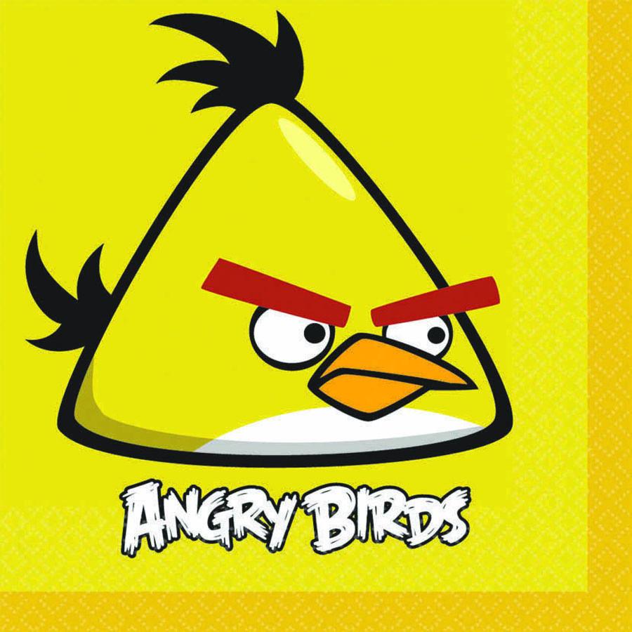 Amscan Салфетка Angry Birds 33 х 33 см 16 шт angry birds мяг игр 20см желтая птица и игрушка подвеска с клипом 7см