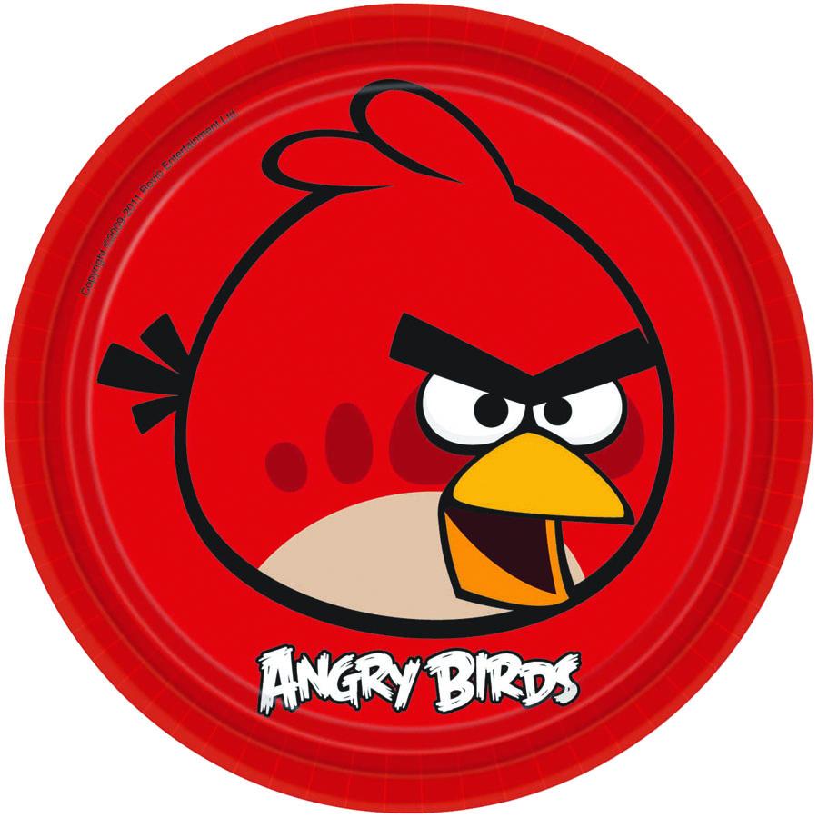 Amscan Тарелка Angry Birds цвет красный 8 шт кигуруми angry birds красная