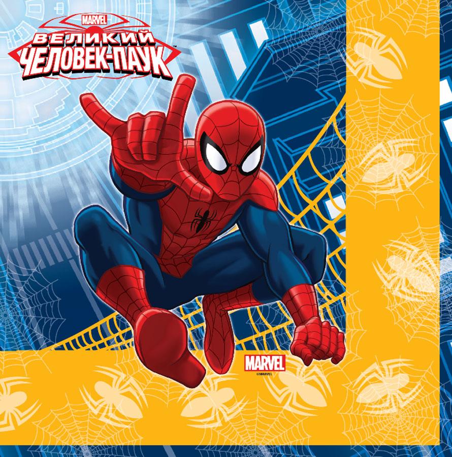 Веселая затея Салфетка Великий Человек-паук 12 шт