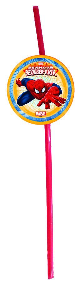 Веселая затея Трубочка для коктейля Великий Человек-паук 6 шт