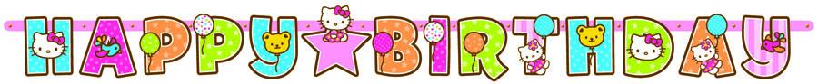 Веселая затея Гирлянда-буквы Hello Kitty