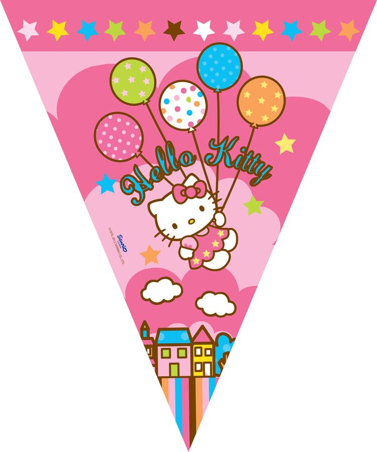 Веселая затея Гирлянда-вымпел Hello Kitty