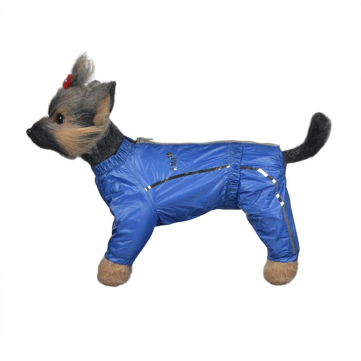 Комбинезон для собак Dogmoda Альпы, для мальчика, цвет: синий. Размер 1 (S)0120710Комбинезон для собак Dogmoda Альпы отлично подойдет для прогулок поздней осенью или ранней весной.Комбинезон изготовлен из полиэстера, защищающего от ветра и осадков, с подкладкой из флиса, которая сохранит тепло и обеспечит отличный воздухообмен. Комбинезон застегивается на молнию и липучку, благодаря чему его легко надевать и снимать. Ворот, низ рукавов и брючин оснащены внутренними резинками, которые мягко обхватывают шею и лапки, не позволяя просачиваться холодному воздуху. На пояснице имеется внутренняя резинка. Изделие декорировано серебристыми полосками и надписью DM.Благодаря такому комбинезону простуда не грозит вашему питомцу и он не даст любимцу продрогнуть на прогулке.