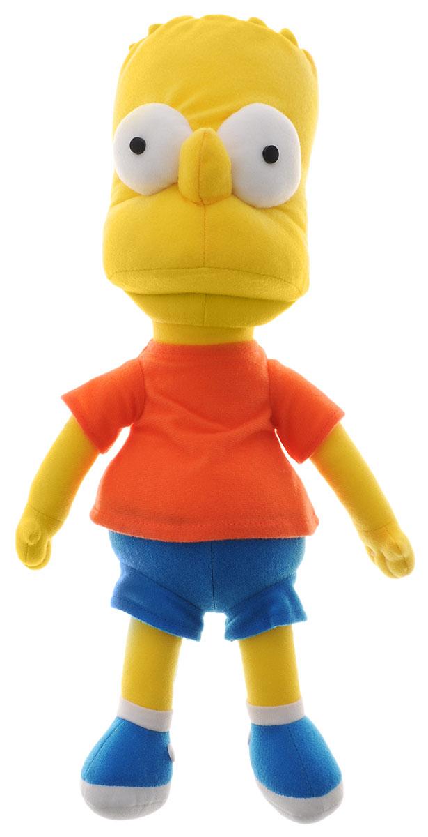Simpsons Мягкая игрушка Барт Симпсон цвет желтый синий морковный 37 см