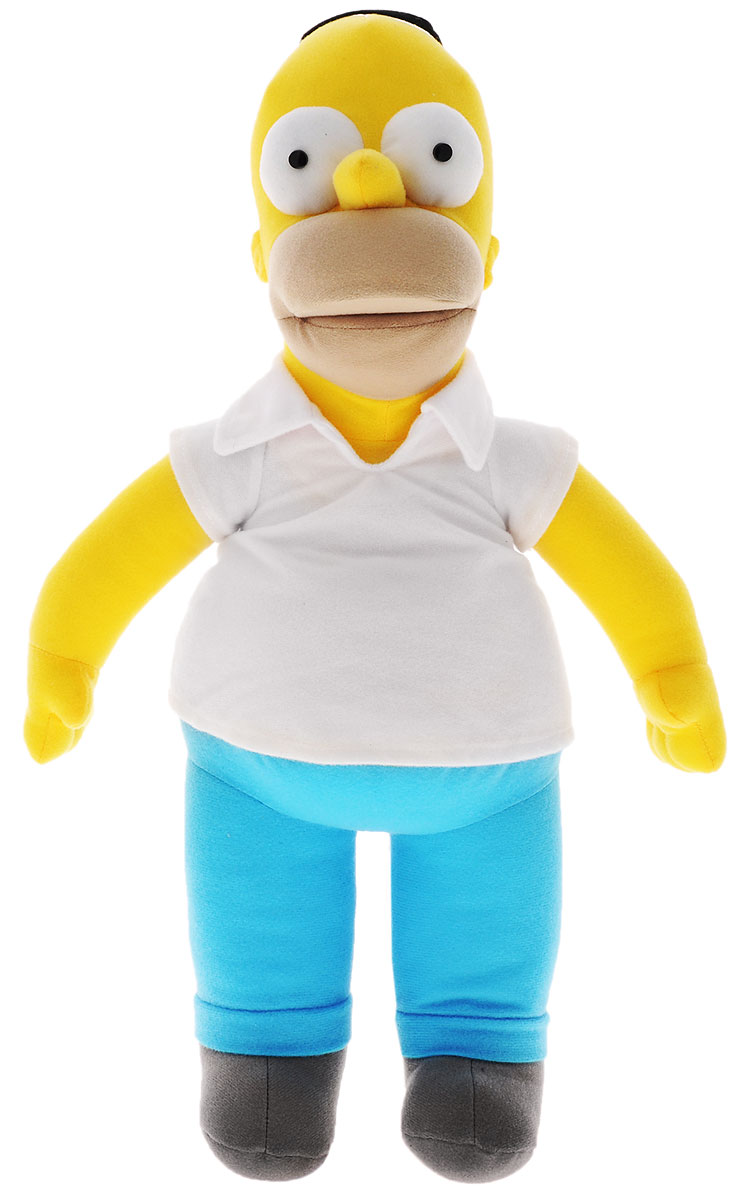 Simpsons Мягкая игрушка Гомер Симпсон цвет желтый белый голубой 47 см