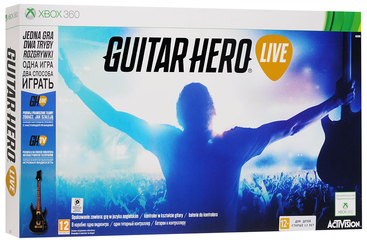 Guitar Hero Live Bundle. Гитара + игра (Xbox 360)