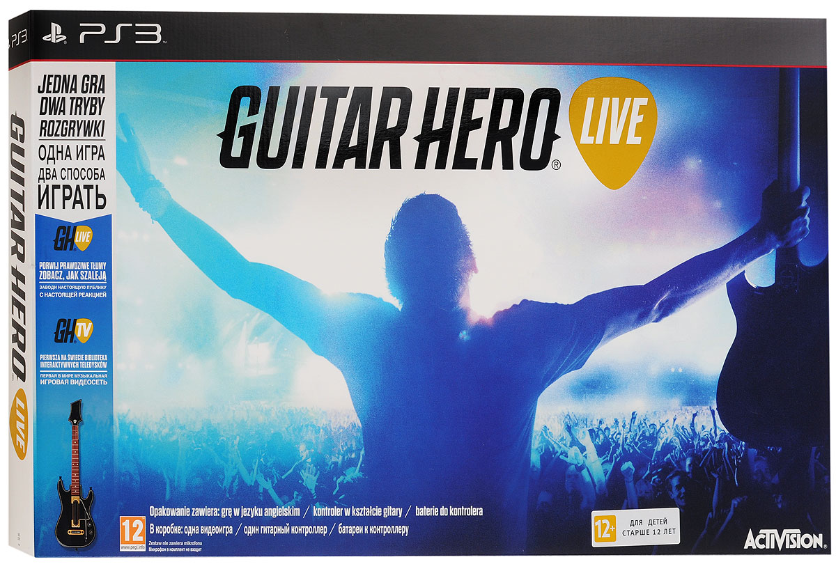 Guitar Hero Live Bundle. Гитара + игра (PS3)