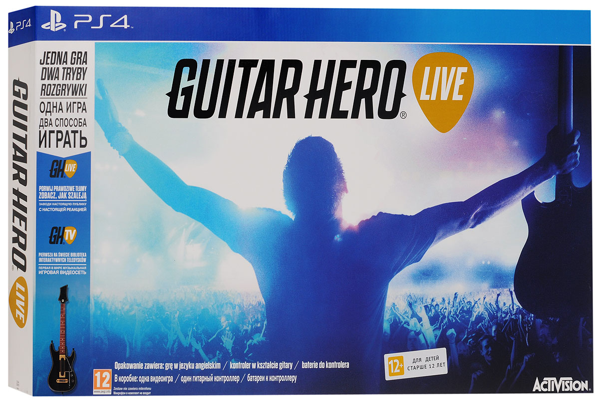 Guitar Hero Live Bundle. Гитара + игра (PS4)