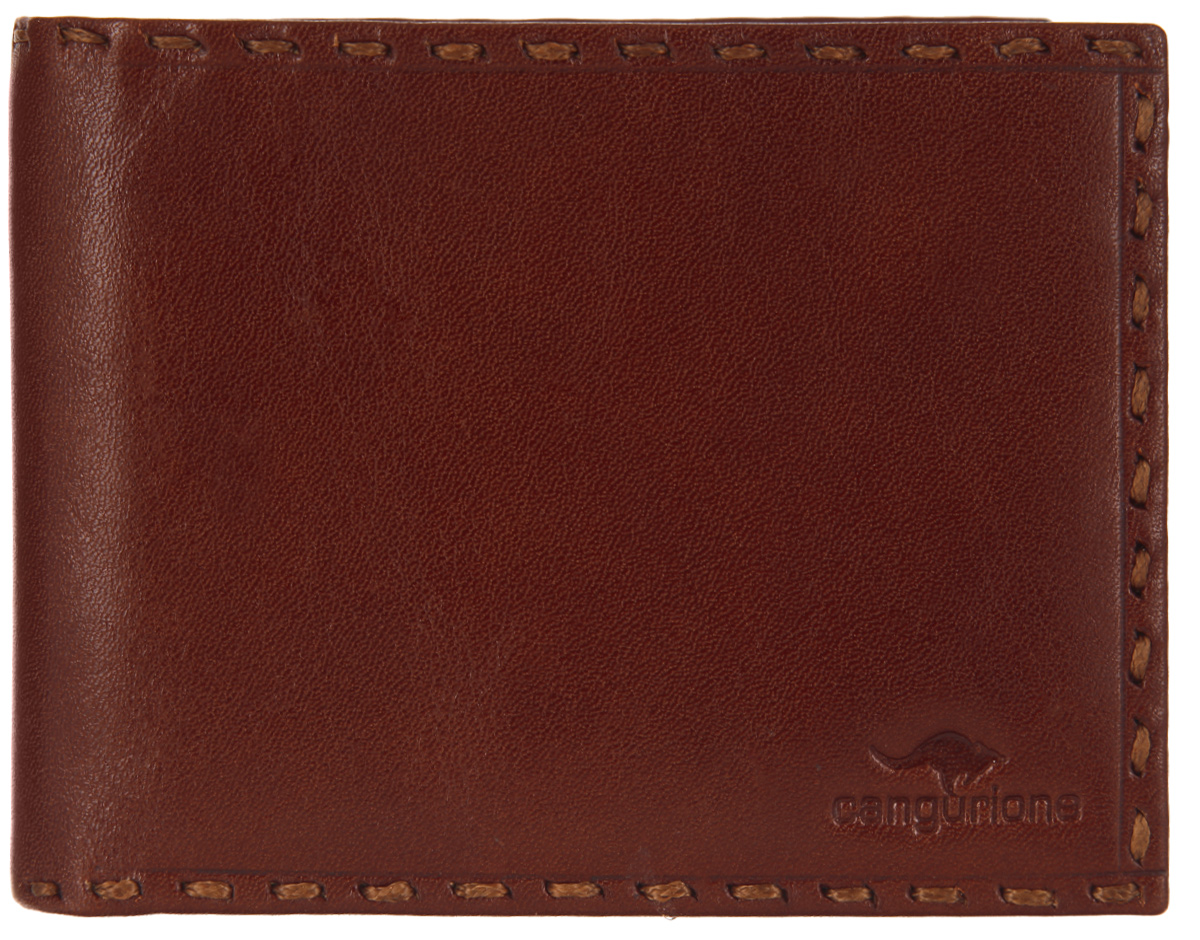 Портмоне мужское Cangurione, цвет: коричневый. 1128-0041-022_516Стильное мужское портмоне Cangurione выполнено из натуральной кожи, оформлено клеймом с символикой бренда и декоративной строчкой. Внутренняя часть изделия выполнена из текстиля и натуральной кожи.Изделие раскладывается пополам. Внутри расположены два отделения для купюр, двенадцать кармашков для кредитных карт или визиток, пять боковых карманов, один из которых сетчатый.Изделие поставляется в фирменной упаковке.Стильное портмоне Cangurione станет отличным подарком для человека, ценящего качественные и практичные вещи.