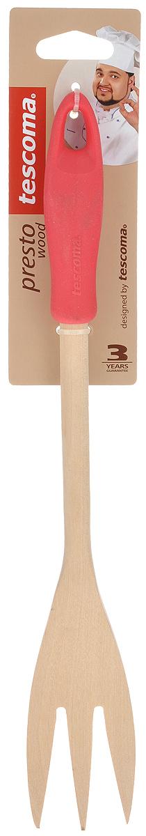 Вилка для мяса Tescoma Presto Wood, цвет: красный, длина 30 см637248_красныйВилка для мяса Tescoma Presto Wood изготовлена из экологически чистого материала - качественной березовой древесины, обладающей уникальной текстурой. Элегантная ручка имеет противоскользящую обработку, что дает возможность удобно и комфортно пользоваться вилкой. Такая кухонная принадлежность подходит для всех видов посуды, а также замечательна для посуды с антипригарным покрытием. Вилка для мяса Tescoma Presto Wood станет вашим незаменимым помощником на кухне, а также это практичный и необходимый подарок любой хозяйке!Размер рабочей поверхности: 4,5 см х 9 см. Общая длина вилки: 30 см.