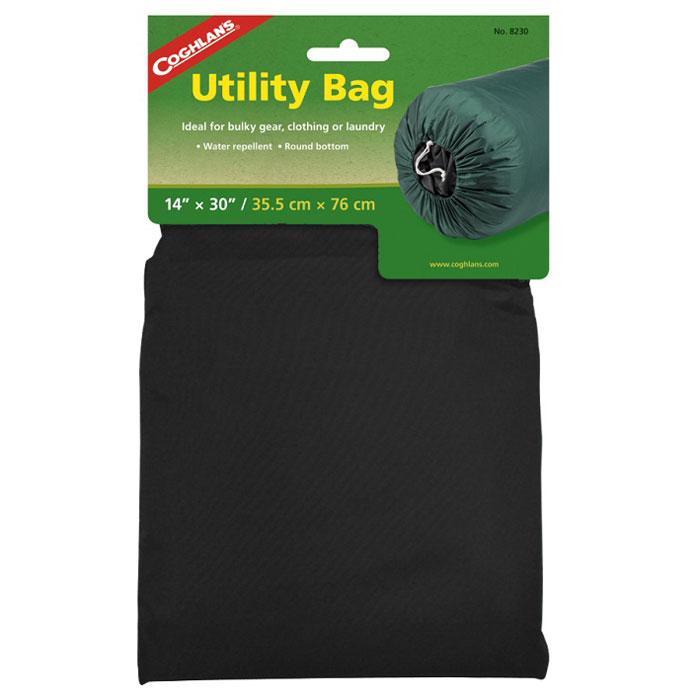Нейлоновый мешок для вещей Coghlans, цвет: черный, 35,6 см х 35,6 см х 76 смNF-40305Легкий нейлоновый мешок Coghlans отлично подходит для хранения одежды и белья. Акриловое водоотталкивающее покрытие, шнур для затягивания горловины мешка.