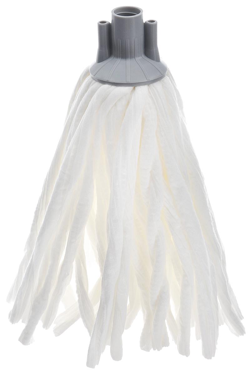 Насадка сменная Apex Girello Eco, для швабры, цвет: белый, серыйK100Сменная насадка Apex Girello Eco для швабры станет незаменимым атрибутом любой уборки. Она выполнена из синтетической ткани, которая обладает супер-впитывающими свойствами и улучшенной очищающей способностью. Идеально подходит для любого типа поверхностей и может использоваться с любыми моющими средствами, в том числе отбеливателем.Насадку можно стирать при температуре 40°С.Длина ворса: 26 см.