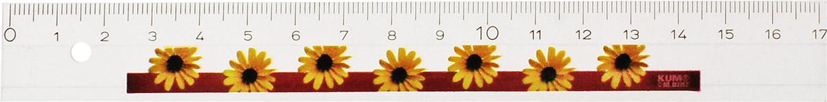 Kum Линейка Floral цвет желтый 17 см29967-26\BCDЛинейка Kum Floral, длиной 17 см, выполнена из прозрачного пластика с цветочным орнаментом желтого цвета.Линейка Kum Floral станет отличным помощником школьнику или студенту, упрощающим измерение и обеспечивающим ровность проводимых линий.