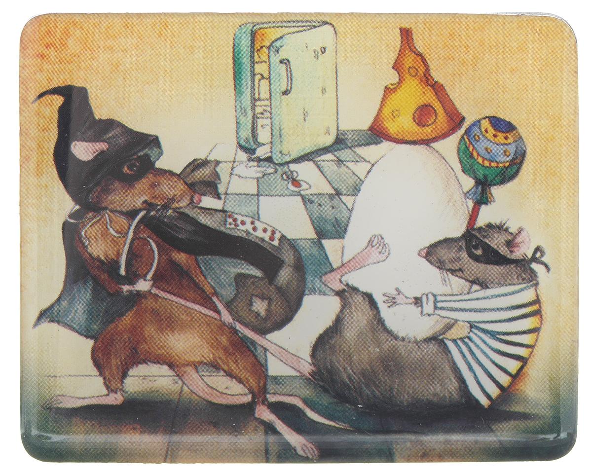 Магнит Феникс-презент Мыши, 4,5 x 5,5 смОД-0008Магнит прямоугольной формы Феникс-презент Мыши, выполненный из агломерированного феррита, станет приятным штрихом в повседневной жизни. Оригинальный магнит, декорированный изображением забавных мышей, поможет вам украсить не только холодильник, но и любую другую магнитную поверхность. Материал: агломерированный феррит.
