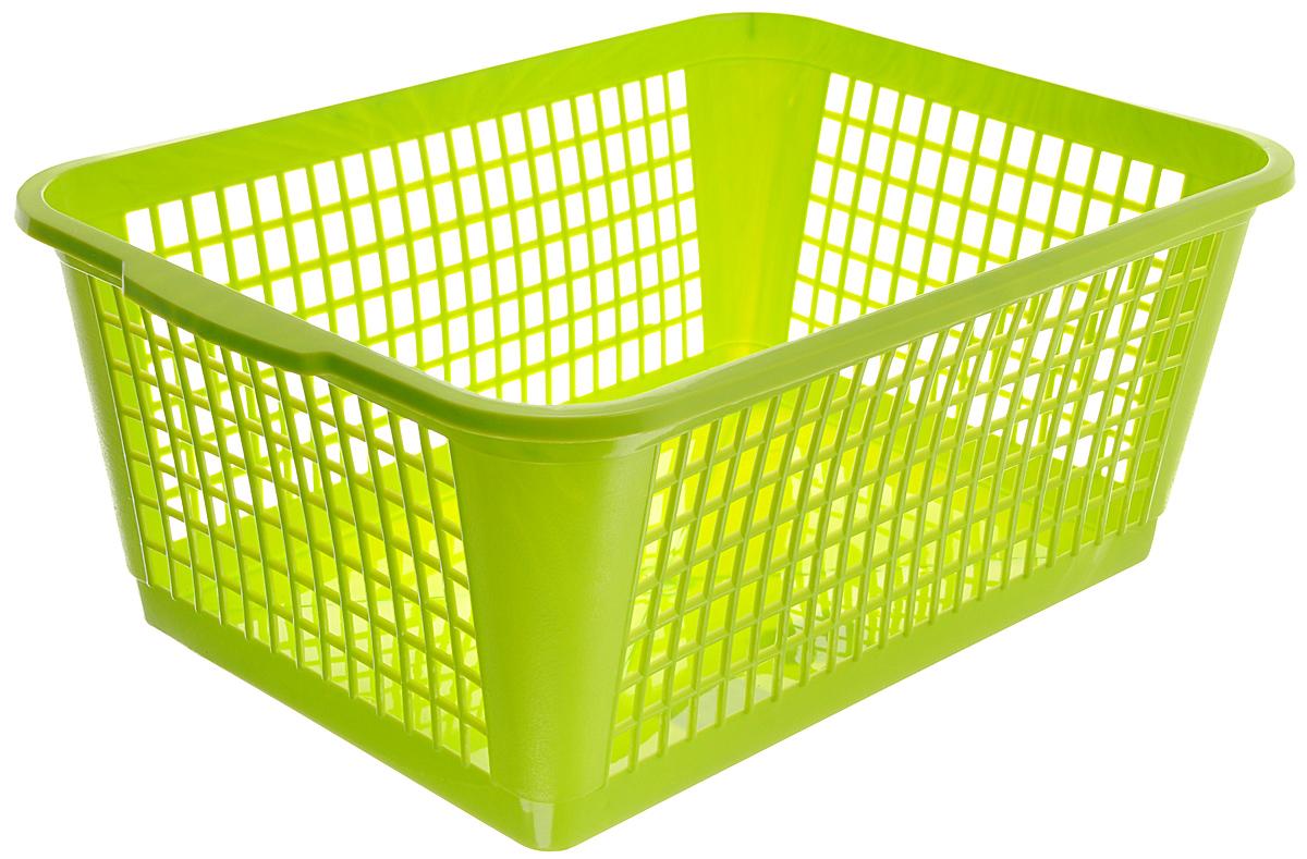 Корзина Gensini, цвет: салатовый, 26 л94672Универсальная корзина Gensini, выполненная из полипропилена, предназначена для хранения мелочей в ванной, на кухне, даче или гараже. Позволяет хранить мелкие вещи, исключая возможность их потери. Боковые стенки украшены перфорацией в виде прямоугольников.