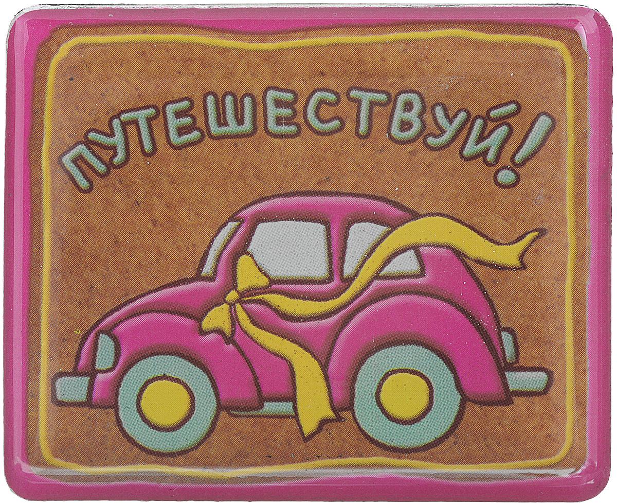 Магнит Феникс-презент Путешествуй, 4,5 x 5,5 см41619Магнит прямоугольной формы Феникс-презент Путешествуй, выполненный из агломерированного феррита, станет приятным штрихом в повседневной жизни. Оригинальный магнит, декорированный изображением яркого автомобиля, поможет вам украсить не только холодильник, но и любую другую магнитную поверхность. Материал: агломерированный феррит.