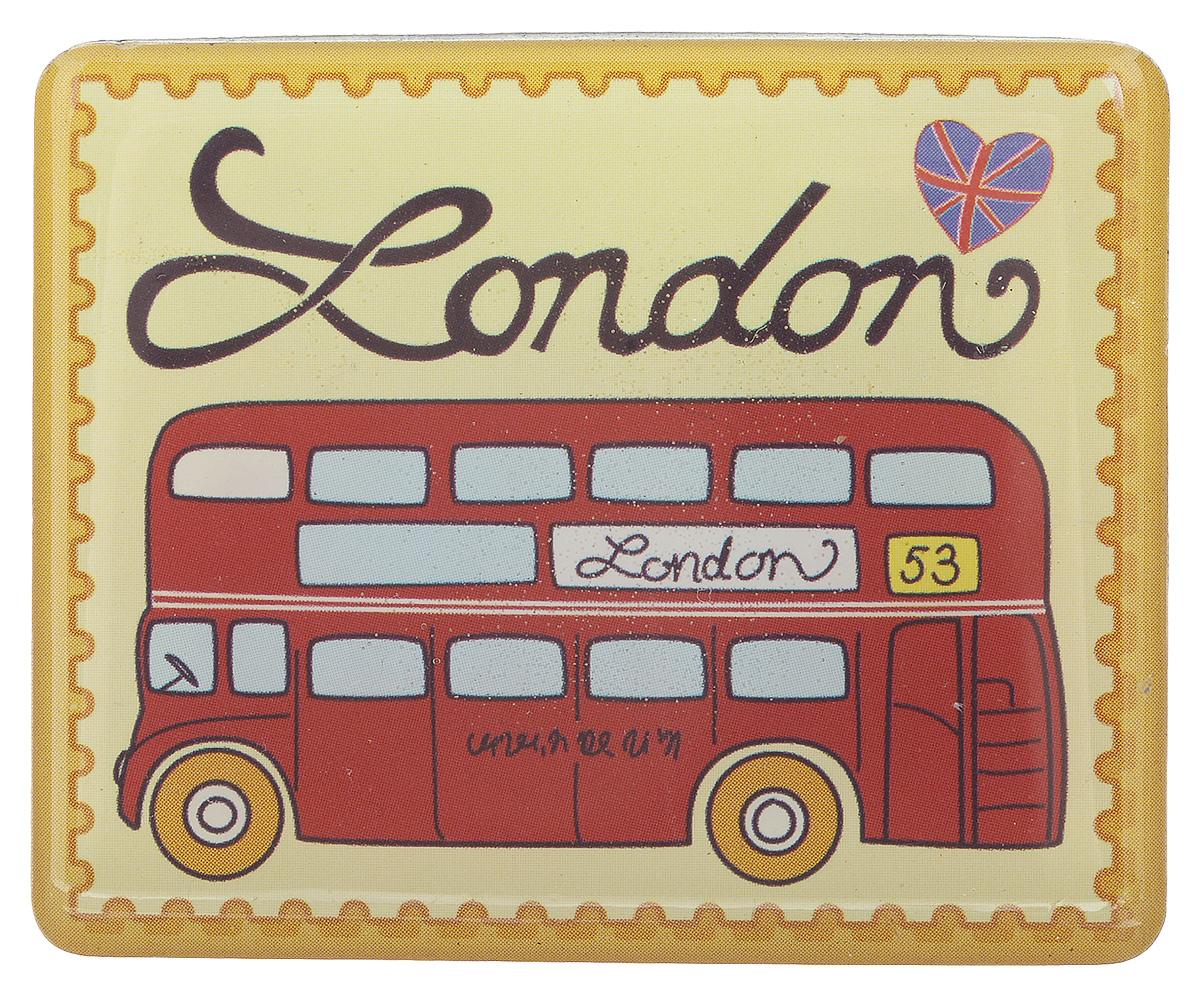 Магнит Феникс-презент Путешествие по Лондону, 4,5 x 5,5 смБрелок для ключейМагнит прямоугольной формы Феникс-презент Путешествие по Лондону, выполненный из агломерированного феррита, станет приятным штрихом в повседневной жизни. Оригинальный магнит, декорированный изображением лондонского автобуса, поможет вам украсить не только холодильник, но и любую другую магнитную поверхность. Материал: агломерированный феррит.