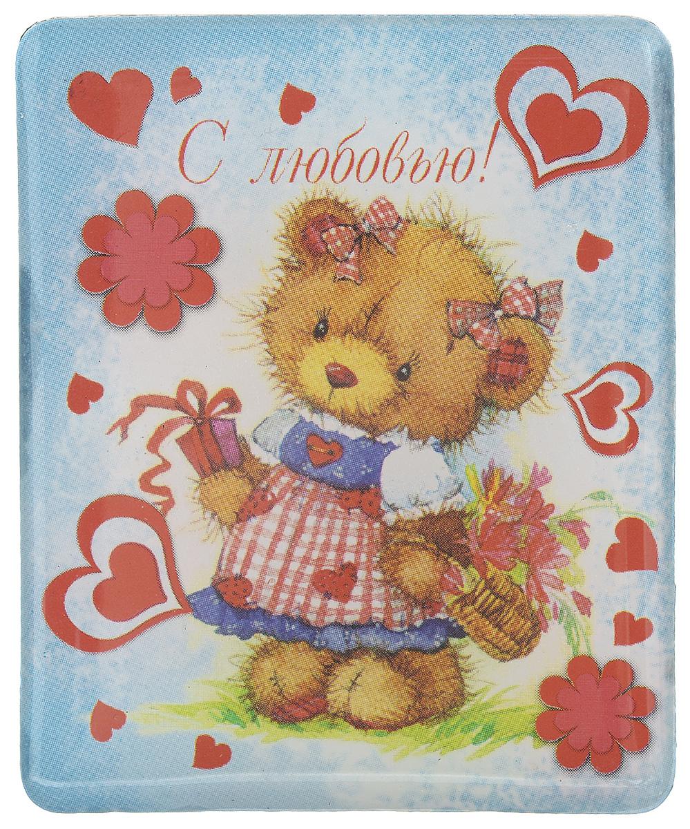 Магнит Феникс-презент Мишка, 4,5 x 5,5 смБрелок для ключейМагнит прямоугольной формы Феникс-презент Мишка, выполненный из агломерированного феррита, станет приятным штрихом в повседневной жизни. Оригинальный магнит, декорированный изображением влюбленной медведицы, поможет вам украсить не только холодильник, но и любую другую магнитную поверхность. Материал: агломерированный феррит.