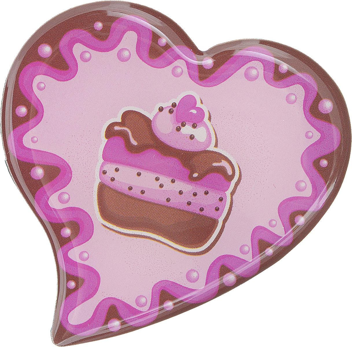 Магнит Феникс-презент Пирожное, 5 x 5 см27183Магнит в форме сердца Феникс-презент Пирожное, выполненный из агломерированного феррита, станет приятным штрихом в повседневной жизни. Оригинальный магнит, декорированный изображением пирожного, поможет вам украсить не только холодильник, но и любую другую магнитную поверхность. Материал: агломерированный феррит.