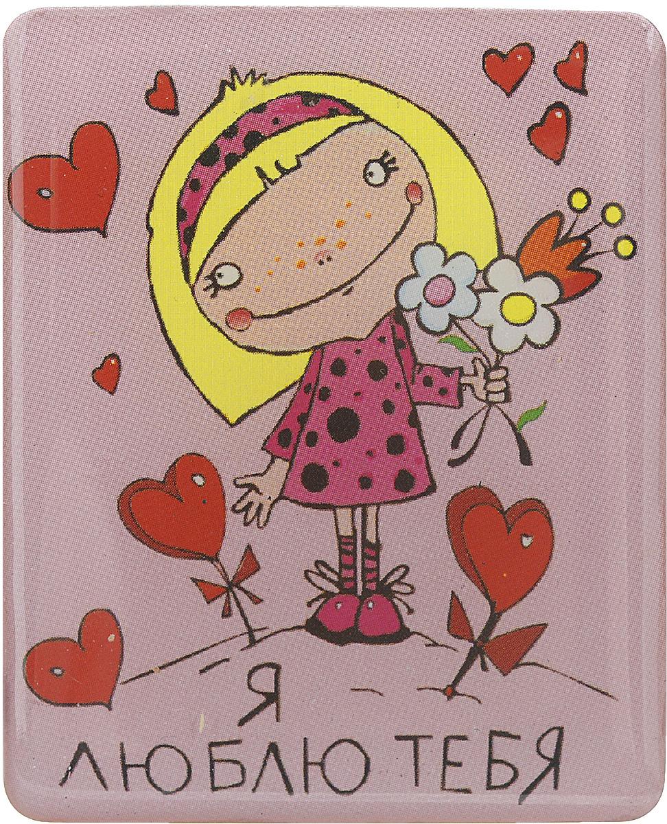 Магнит Феникс-презент Я люблю тебя, 4,5 x 5,5 см28907 4Магнит прямоугольной формы Феникс-презент Я люблю тебя, выполненный из агломерированного феррита, станет приятным штрихом в повседневной жизни. Оригинальный магнит, декорированный изображением влюбленной девочки, поможет вам украсить не только холодильник, но и любую другую магнитную поверхность. Материал: агломерированный феррит.