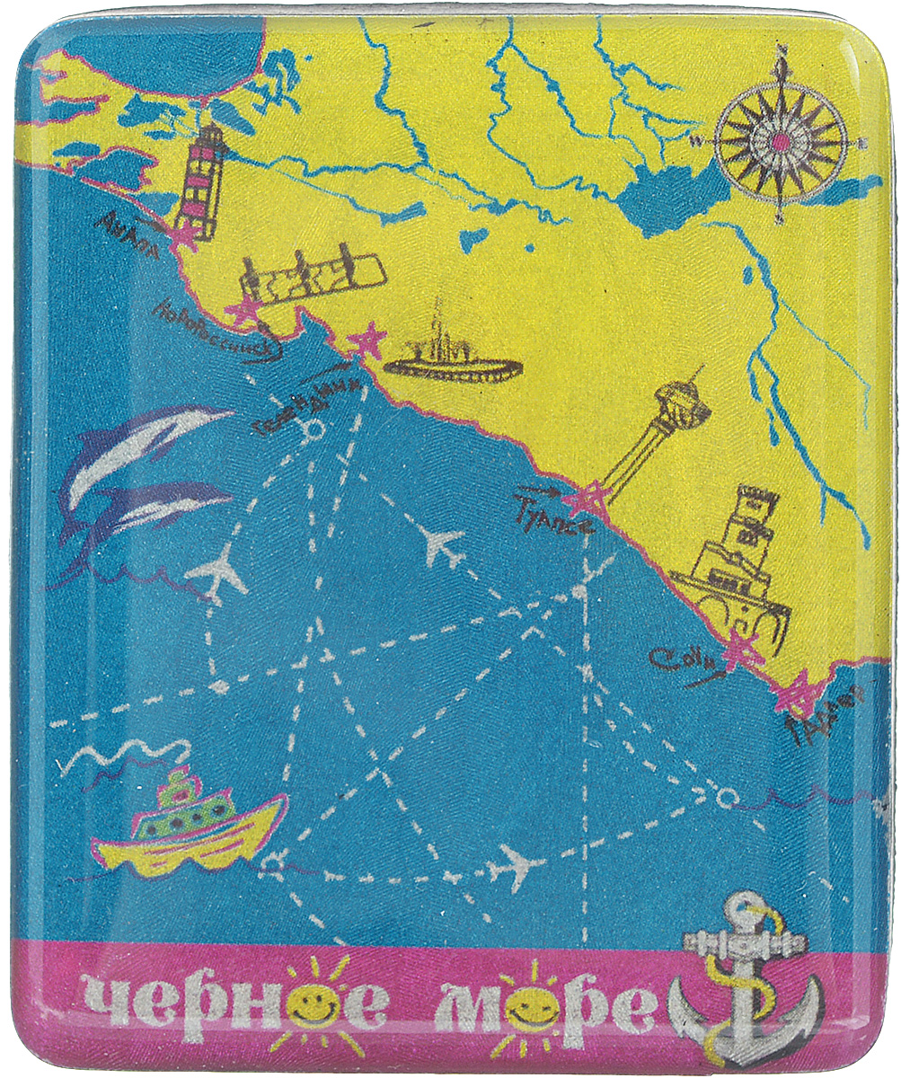Магнит Феникс-презент Черное море, 4,5 x 5,5 смU210DFМагнит прямоугольной формы Феникс-презент Черное море, выполненный из агломерированного феррита, станет приятным штрихом в повседневной жизни. Оригинальный магнит, декорированный изображением моря, поможет вам украсить не только холодильник, но и любую другую магнитную поверхность. Материал: агломерированный феррит.