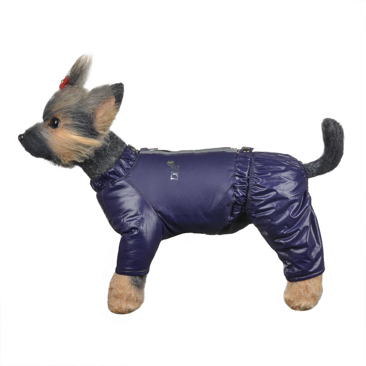 Костюм для собак Dogmoda Дублин, зимний, для девочки, цвет: фиолетовый, розовый. Размер 1 (S)0120710Зимний костюм для собак Dogmoda Дублин отлично подойдет для прогулок в зимнее время года.Костюм состоит из куртки и брюк на лямках, которые изготовлены из полиэстера, защищающего от ветра и снега, с утеплителем из синтепона, который сохранит тепло даже в сильные морозы, а на подкладке используется искусственный мех, который обеспечивает отличный воздухообмен. Куртка застегивается на молнию и кнопки. На молнии имеются светоотражающие элементы. Ворот и низ изделия оснащены внутренними резинками, которые мягко обхватывают тело, не позволяя просачиваться холодному воздуху. Куртка декорирована серебристой надписью DM.Эластичные лямки брюк имеют перфорацию. Их длина регулируется при помощи пуговиц. Брюки застегиваются на кнопки и имеют на пояснице внутреннюю резинку, которая не позволит просачиваться холодному воздуху. Изделие декорировано серебристой надписью DM.Благодаря такому костюму простуда не грозит вашему питомцу.