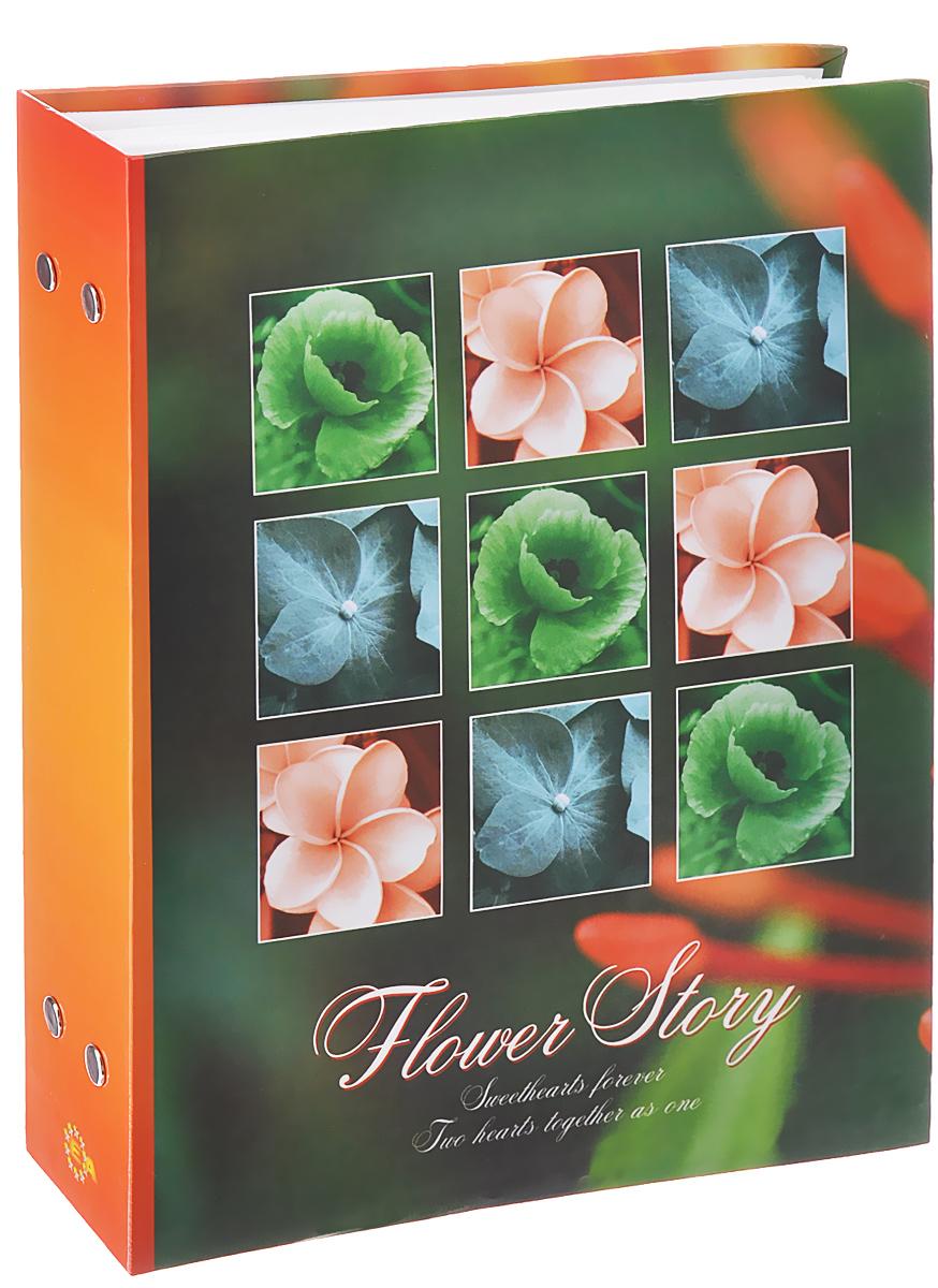 Фотоальбом Euro Album Flower Story, цвет: зеленый, оранжевый, 200 фотографий, 10 x 15 см110601004Фотоальбом Euro Album Flower Story поможет красиво оформить ваши самые интересные фотографии. Обложка, выполненная из толстого картона, оформлена изображением цветов. Внутри содержится блок из 50 белых листов с фиксаторами-окошками из полипропилена. Альбом рассчитан на 200 фотографий формата 10 см х 15 см (по 2 фотографии на странице). Переплет - книжный. Нам всегда так приятно вспоминать о самых счастливых моментах жизни, запечатленных на фотографиях. Поэтому фотоальбом является универсальным подарком к любому празднику.Количество листов: 50.