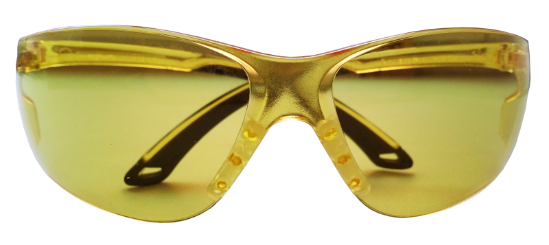 Очки стрелковые Stalker, защитные, цвет: желтый162Защитные стрелковые очки Stalker с ударопрочными поликарбонатными линзами светопрпускаемостью 85%. Обеспечивают защиту глаз спереди и сбоку от частиц, летящих со скоростью 400 м/с. Обрезиненные дужки. На линзы нанесена защита от царапин.Данные защитные очки были произведены в соответствии со стандартами ANSI Z87.1 и CE EN166. Их линзы изготовлены из ударопрочного поликарбоната с использованием покрытия, защищающего от царапин, но очки не являются небьющимися и обеспечивают ограниченную защиту. Характеристики очков:- УФ-защита- Светопропускаемость 85%- Класс оптики 1- Обрезиненные дужки- Ударопрочные- Защита от царапин.
