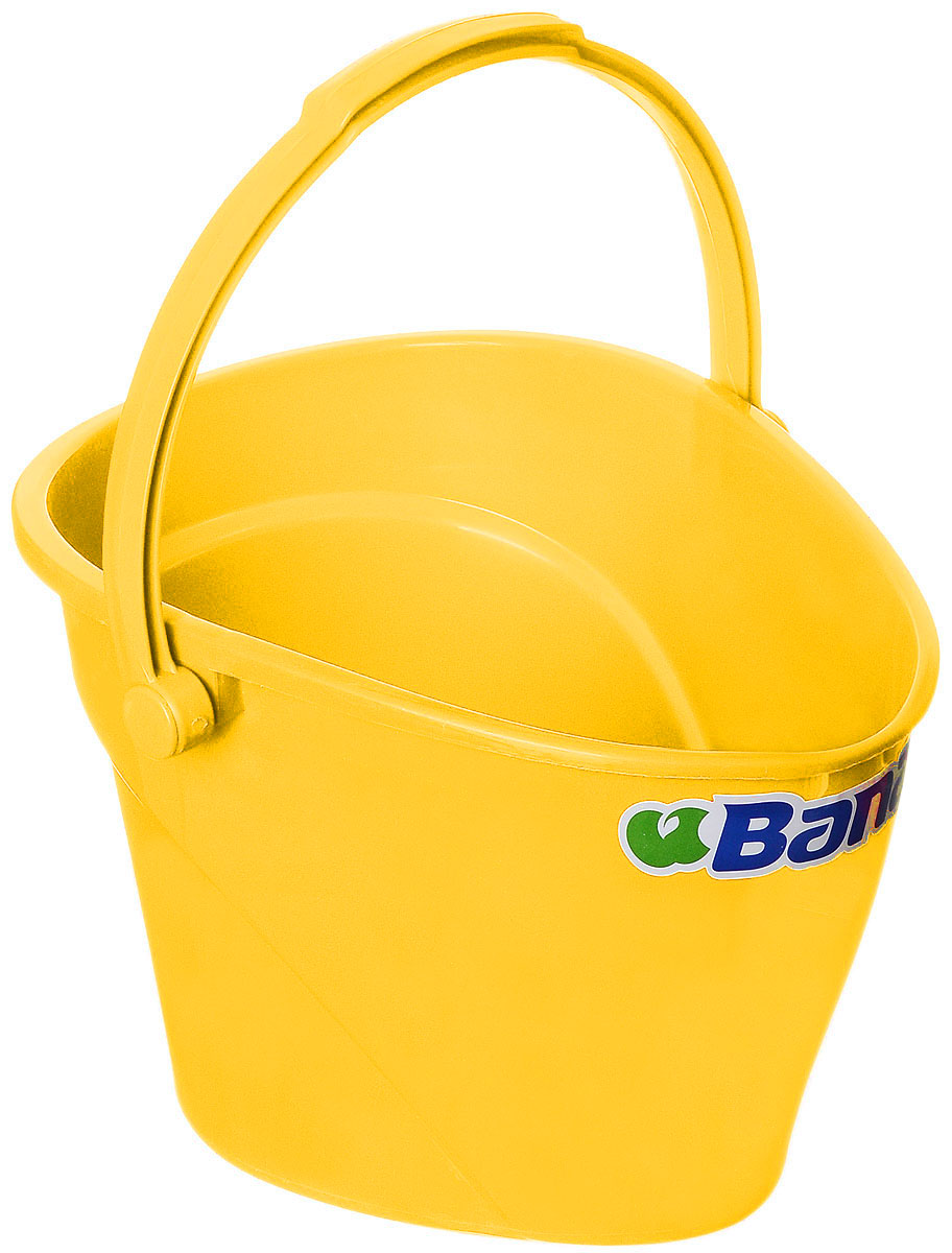 Ведро Banat, цвет: желтый, 12 л303224Ведро Banat изготовлено из прочного пластика. Предназначено для уборки и других хозяйственных нужд. Изделие имеет специальную форму, позволяющую удобно выливать жидкость. Для переноски предусмотрена прочная широкая ручка.