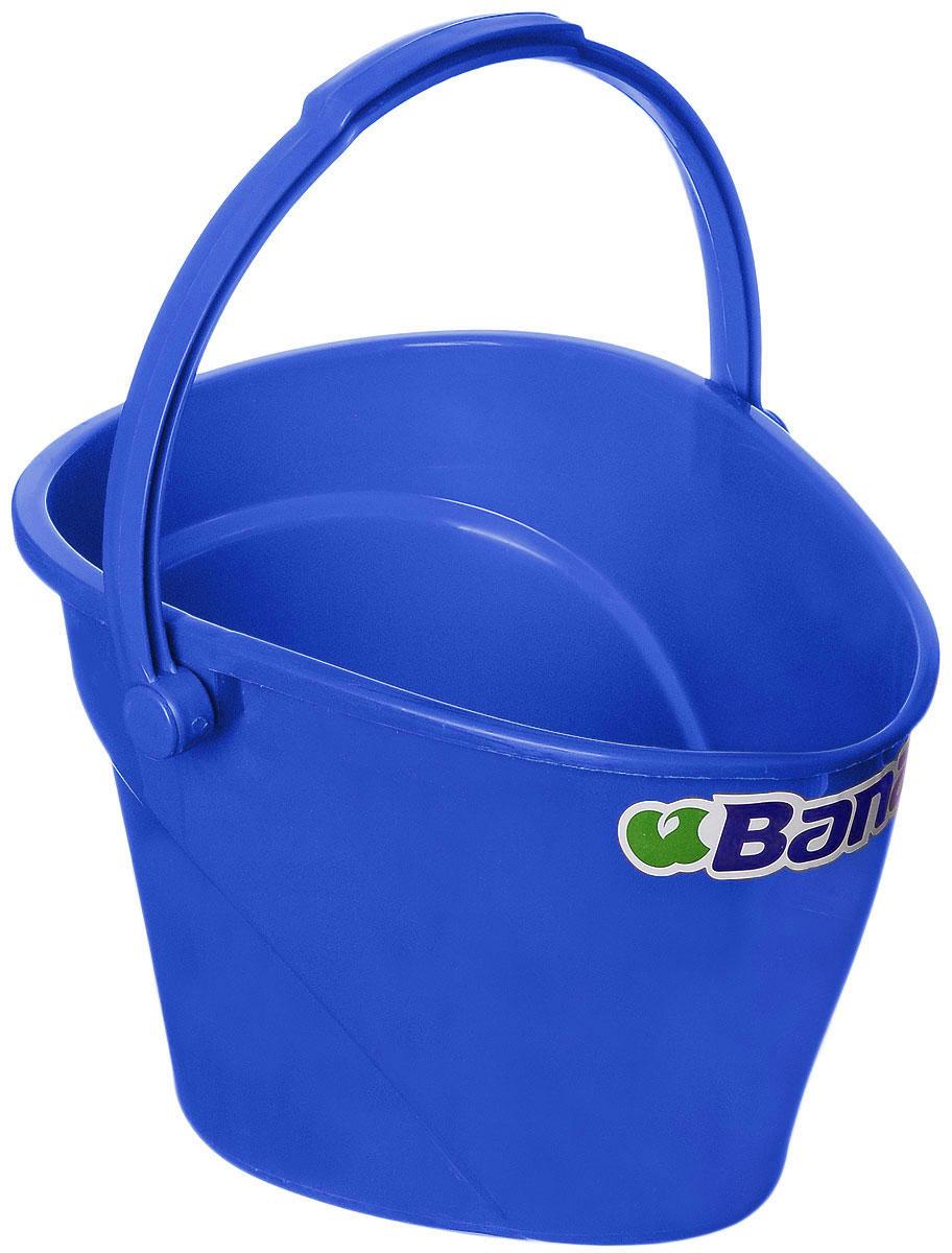Ведро Banat, цвет: синий, 12 л531-105Ведро Banat изготовлено из прочного пластика. Предназначено для уборки и других хозяйственных нужд. Изделие имеет специальную форму, позволяющую удобно выливать жидкость. Для переноски предусмотрена прочная широкая ручка.