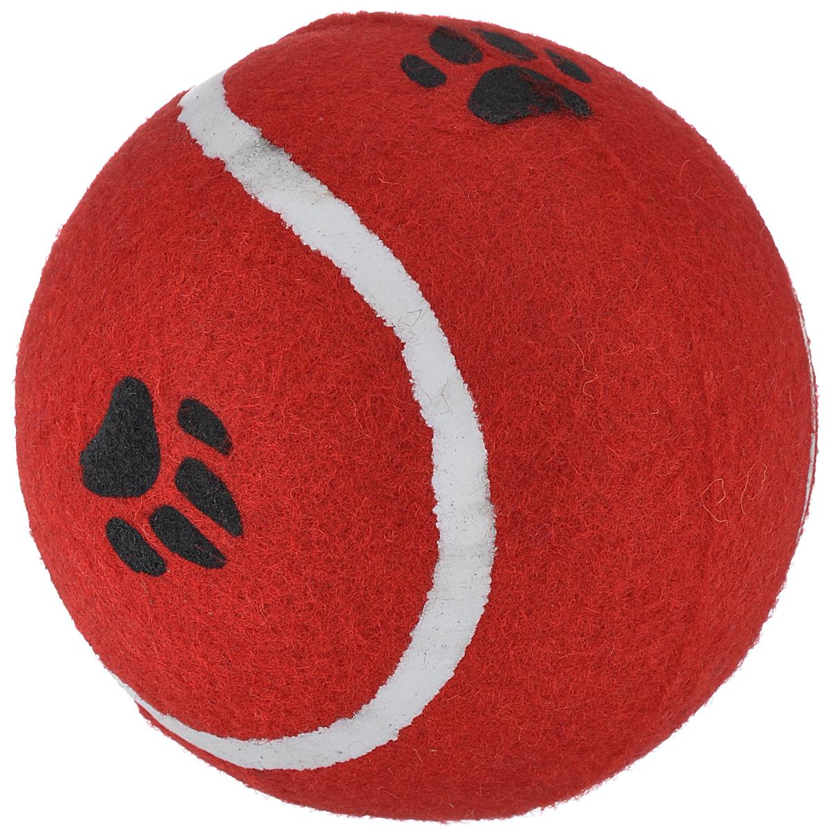 Игрушка для собак I.P.T.S. Мячик теннисный с отпечатками лап, цвет: красный, диаметр 10 см0120710Игрушка для собак I.P.T.S. изготовлена из прочной цветной резины с ворсистой поверхностью в виде теннисного мяча с отпечатками лап. Предназначена для игр с собакой любого возраста. Такая игрушка привлечет внимание вашего любимца и не оставит его равнодушным. Диаметр: 10 см.