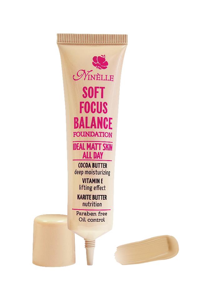Ninelle Тональный крем Soft Focus Balance, тон №01, 30 мл11196301Формирует матовое покрытие, Профессиональный эффект «макияж без макияжа», Профессиональный эффект «макияж без макияжа» Гипоаллергенно