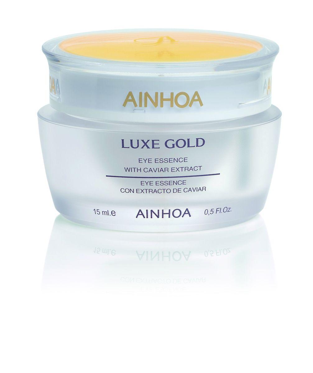 Ainhoa Luxe Gold Нежный гель-крем для глаз с экстрактом икры и золотой пудрой, 15 млR2007Нежный гель с золотой пудрой повышает эластичность кожи вокруг глаз, уменьшает мимические морщинки и придает коже сияние. Экстракт черной икры насыщает кожу витаминами и аминокислотами, а экстракты женьшеня и водорослей питает кожу. Активные компоненты: экстракт икры, пантенол, экстракты морских водорослей, полевого хвоща и женьшеня, золотая пудра. Способ применения: наносите крем утром и вечером нежными похлопывающими движениями на область вокруг глаз.