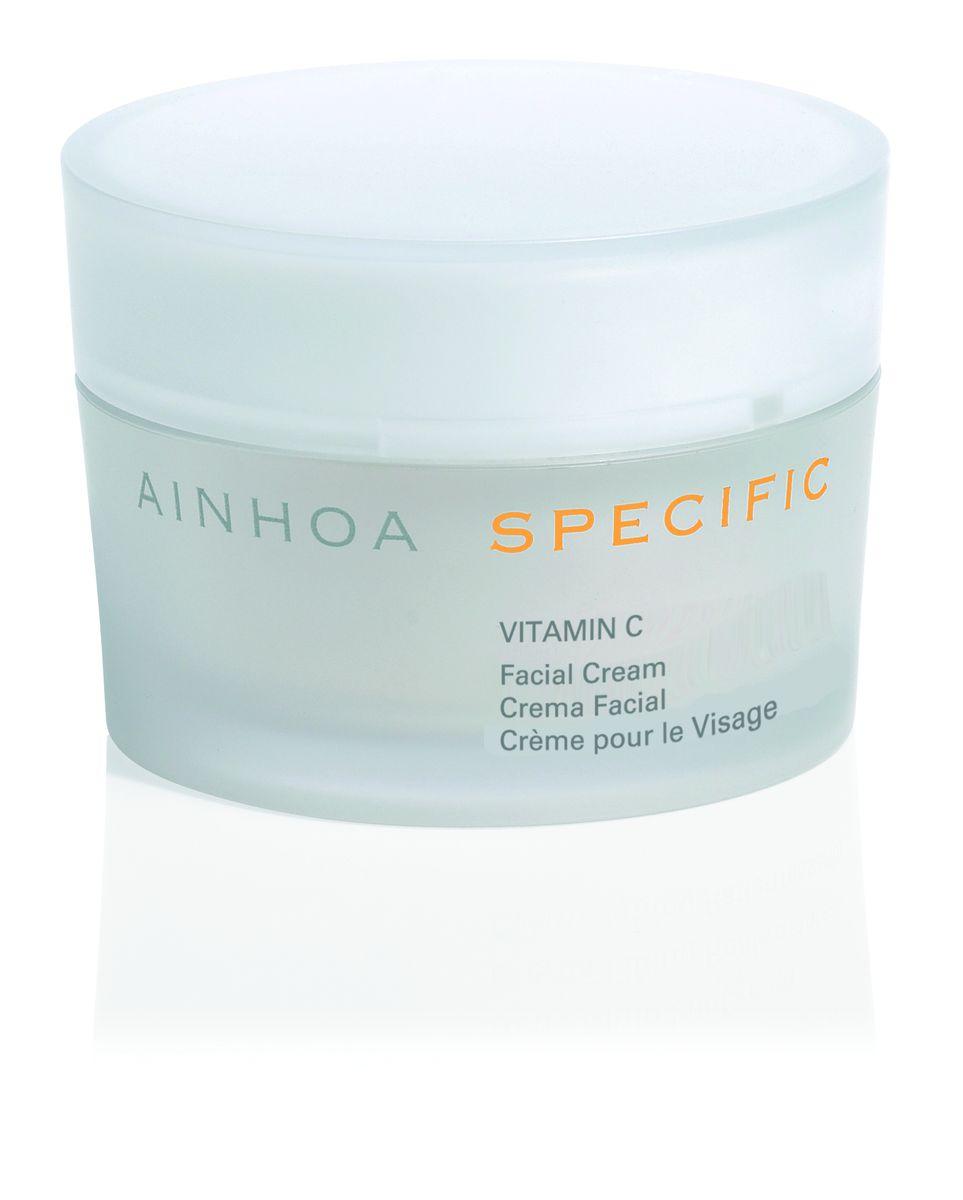Ainhoa Specific Vitamin C крем для нормальной и сухой кожи день/ночь, 50 мл102003Крем с высокой концентрацией витамина С, который является природным антиоксидантом, прекрасно защищает кожу от свободных радикалов и негативных факторов окружающей среды. Предотвращает преждевременное старение кожи. Стимулирует обновление клеток. Выравнивает тон лица и дарит коже свежесть. Активные компоненты: витамин С (1,5%), витамин Е, масло шиповника (мускусной розы), гиалуроновая кислота. Способ применения: нанесите крем на очищенную кожу лица и шеи. Можно использовать утром и вечером. При выходе на солнце рекомендуется нанести солнцезащитный крем.